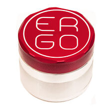 "ERGO Aluminum herb GRINDER 2.00"" 4 piece w/ 3 REMOVABLE SCREENS 50mm RED"