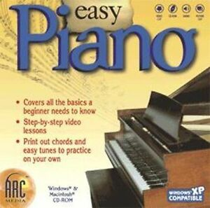Easy Piano  Step-by-step video lessons and a guide to reading music   Brand New