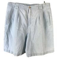 Liz Claiborne Liz Sport Womens Shorts Linen Light blue Size 14P