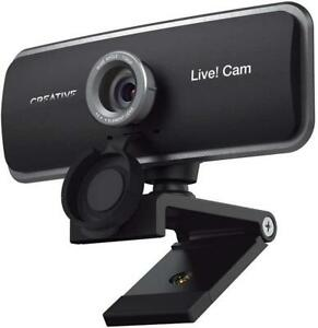 Creative Live! Cam VF0860 1080p Full HD Webcam Dual Built-in Mic Lens Cap