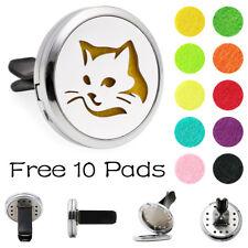 30mm Cat Zinc Alloy car Vent Clip Air Freshener Aroma Essential Diffuser Locket