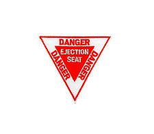 Patch toppe toppa ricamate termoadesiva danger ejection seat aviazione pilota
