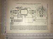 Steam Turbine For Driving Electric Generator: 1912 Engineering Magazine Print