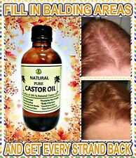 CASTOR OIL 100% ORGANIC FOR HAIR SKIN LASHES & EYEBROWS THICKER HAIR NO GRAYS