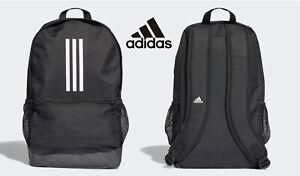 Adidas Versatile 3 Stripe Tiro Black Backpack Gym School Training Bag Xmas Gift