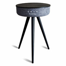Deco Home Smart Bluetooth Speaker Table with USB and Wireless Charging - Gray