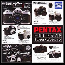 Takara Tomy Art PENTAX Camera K-5 K-7 MX Keychain Gashapon Figure 6 Models Toys