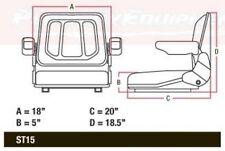 T500BL Tractor Seat w Tracks for Allis Bobcat Case IH Backhoe Dozer Skidloader