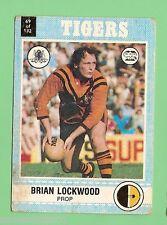 1977 SCANLENS RUGBY LEAGUE CARD   #69 BRIAN LOCKWOOD, BALMAIN TIGERS