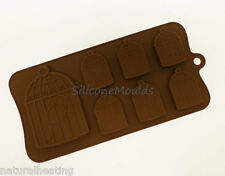 6+1 BIRD CAGES BIRDCAGE Chocolate Silicone Bakeware Mould Candy Cake Mold Tin