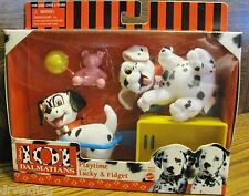 Vintage 101 Dalmatians Playtime Lucky & Fidget Play Set w Accessories MIB NEW
