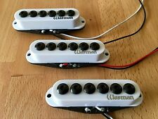 Warman 6 Gauges, Hi Gain single coil set. Matched set of 3 in white