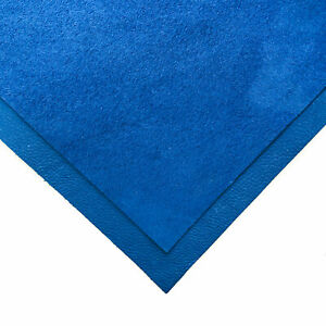 Blue Leather 6x6in/15x15cm Sheets // Soft Velour Material // Royal Blue Color S