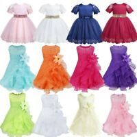 Toddler Baby Flower Girl Princess Dress Pageant Party Wedding Birthday Ball Gown
