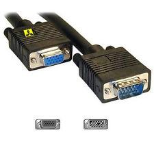 Extensión de monitor VGA SVGA M-F 15 Pin Cable Negro 0.5 M