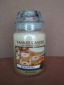 Yankee Candle * 22 Oz. Jar Candle * EGGNOG *