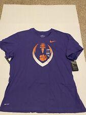 Clemson Tigers Mens Nike Football Icon Dri-Fit Purple T-Shirt  Men's Size: 3XL