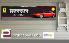 Ferrari Dino 308 GT4 Car Banner, for Workshop, Garage, Office, Showroom etc