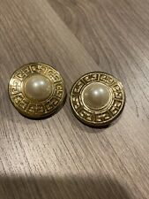 Vintage Rare Givenchy Earrings Clip On Pearls