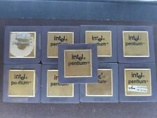 LOT-9-INTEL-PENTIUM-VINTAGE-CERAMIC-CPU-FOR-GOLD-SCRAP-RECOVERY SMAILL SOCKET