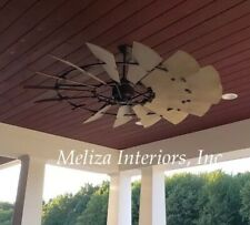 "60"" OUTDOOR Windmill Ceiling Fan by Quorum; Now Light kit Compatible"