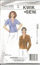 Kwik Sew Pattern 3434, Wrap Blouses with Variations, Size XS - XL, Uncut
