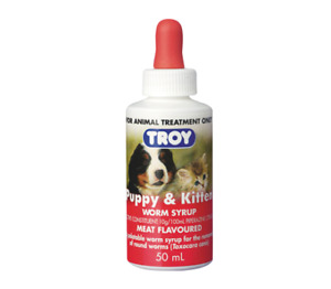 NEW TROY PUPPY AND KITTEN WORMING SYRUP 50ML - SPECIAL