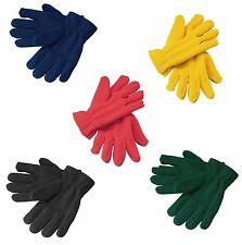 Guanti in morbidissimo pile per donna elastico ai polsi Taglia unica 5 colori
