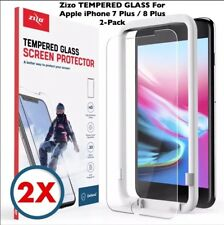 Zizo TEMPERED Glass 2-Pack Screen Protectors+Align Frame For Apple iPhone 8 Plus