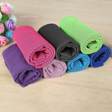 Outdoor Instant Cooling Towel ICE Cold Golf Cycling Jogging Gym Sports Summer HY