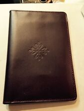 PATEK PHILIPPE Brown Leather Pocket Note Book with card holder slots