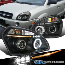 For 2005-2009 Tucson Replacement LED Halo Projector Headlights Head Lamps Black
