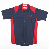 Vintage RED KAP Navy Blue & Red KIA Worker Shirt Size Men's Medium