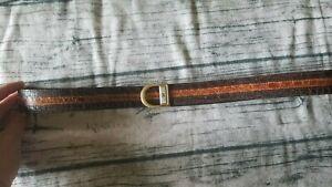 Pierre cardin Mens Crocodile & Leather Belt Beautiful