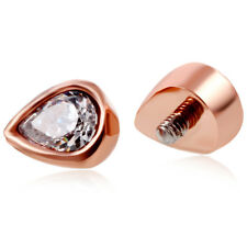 Rose Gold Dermal Anchor Top Surface Piercing Micro Dermal Piercing 16G Body Gem