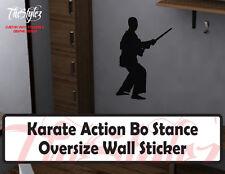 Karate Action Bo Stance Oversize Wall Vinyl Sticker