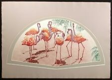 """Catherine O'Connor """"Flamingo II"""" Hand Signed Fine Art Etching of tropical birds"""