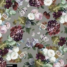 Cotton Floral in Seamless Pattern 100% Cotton Quilting Fabric by the Yard