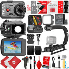 VEHO MUVI K-Series K-2 1080p 16MP Wi-Fi Sports Action Camera w/ 24GB 28PC Bundle