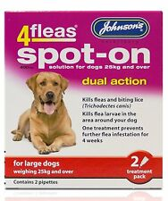 JOHNSONS 4FLEAS LARGE DOG SPOT-ON DUAL ACTION TREATMENT KILL FLEAS & LARVAE