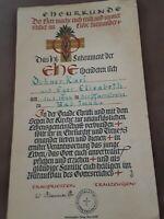 Urkunde Ehe das heilige Sakrament der Ehe v. 1944 Zeitgeschichte schön gestaltet
