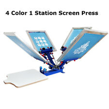 Screen Printing 4 color 1 Pallet Micro-adjust Rotary Holder Printer Table Press