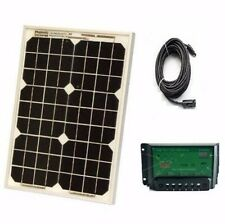 12V Solar Car Battery Charger 30W Portable Panel Camping Power Truck Boat