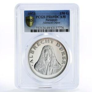 Paraguay 150 guaranies The Painter Albrecht Durer Art PR69 PCGS silver coin 1973