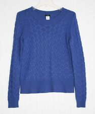 Women's Small royal blue soft cable knit sweater with angora by J. Crew
