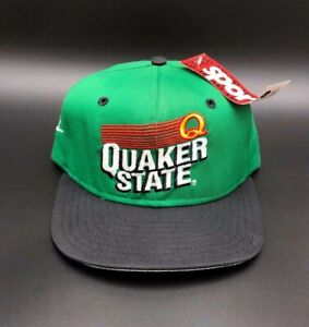 Brett Bodine #26 Quaker State Racing Team Adjustable Hat Cap NASCAR New Green