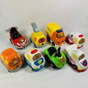 Vtech Go! Go! Smart Wheels Lights & Sound Works Preschool Play Vehicles Lot of 8