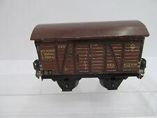 eso-14650Alter Märklin  Spur 0 Güterwagen mit Gebrauchsspuren,Farbschäden