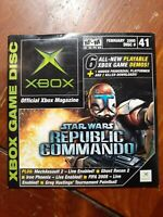 Xbox Official Magazine Game Disc #41 STAR WARS REPUBLIC COMMANDO Sample Demo