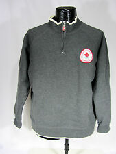 Hudson Bay Co. HBC Canada 2006 Olympic Team Adult SZ M  Pullover-Grey 1/4 zipper